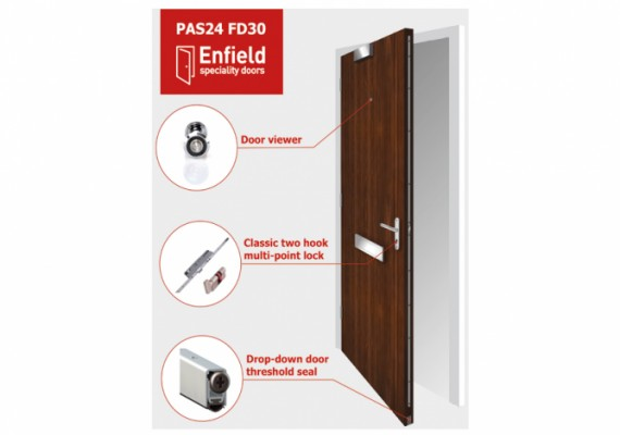 NEW high-security fire-resistant entrance doors from Enfield
