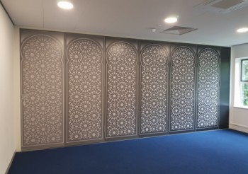 BESPOKE PARTITIONS ARE STYLISH ADDITION TO TOWN MOSQUE