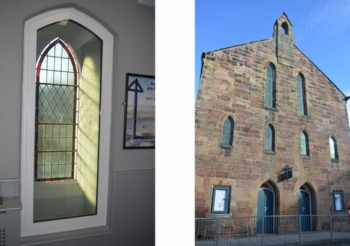 High performance sealed unit secondary glazing installed in a 250 year old Granary