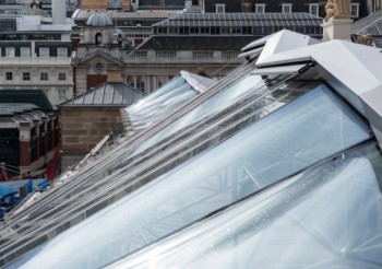 Iconic Covent Garden glass roof design can be shaded and beautiful