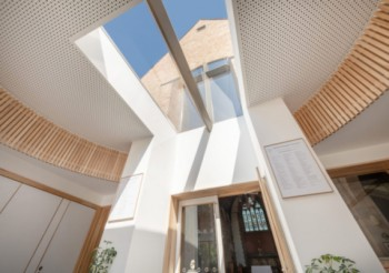 IMPRESSIVE ROOFLIGHTS FLOOD CHURCH EXTENSION WITH DAYLIGHT