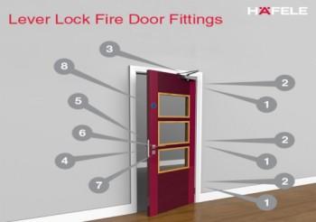 Lever Lock Fire Door Fittings