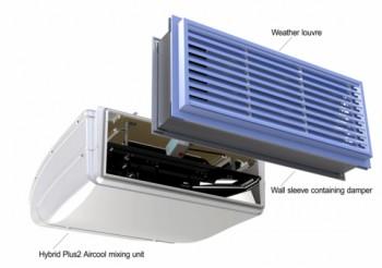 Multi-mode hybrid ventilation system for schools