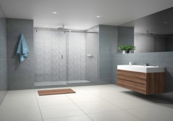 Shower design in the frame with CRL