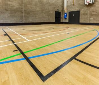 World class Taraflex® sports flooring for Becket Keys School