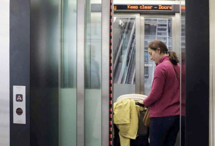 First incline lift on London Underground protected by Avire light curtains
