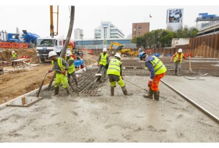 Waterproofing concrete using Triton TT Admix